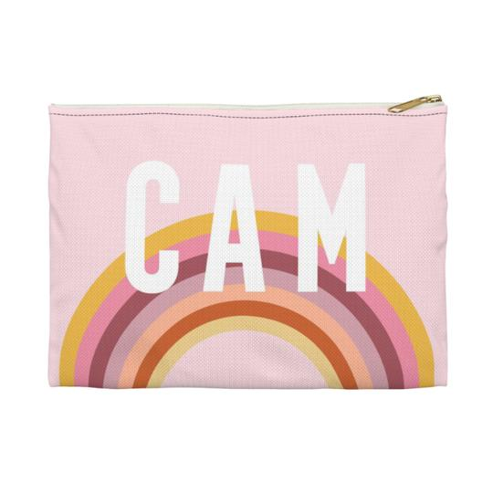 Rainbow Flat Zippered Clutch - Large - Give Wink