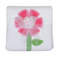 Flower Applique Burp