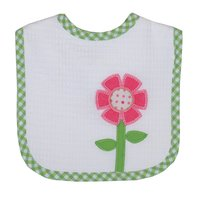 Flower Applique Bib - Give Wink