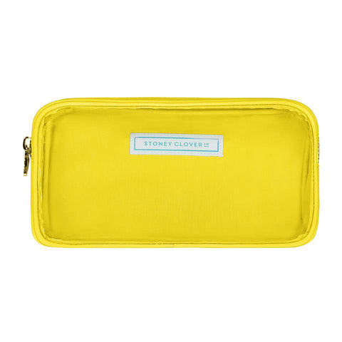 Classic Clear Small Pouch - Lemon