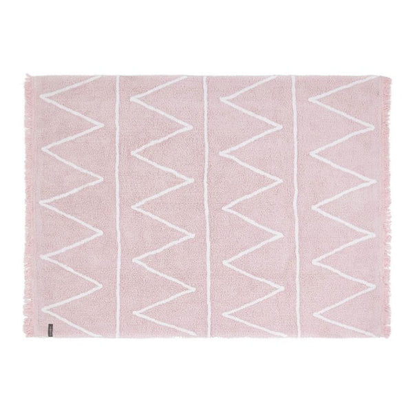 Hippy Washable Rug Soft Pink