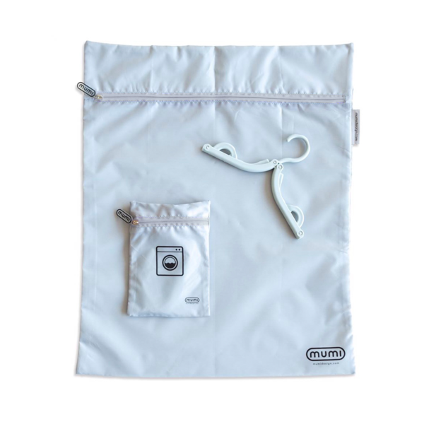 Travel Laundry Bag - Grey. Mumi. Miami Baby Store.
