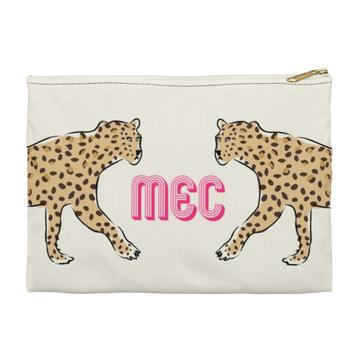 Leopard Duo Flat Zippered Clutch - Large - Give Wink