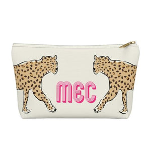 Clairebella Leopard Duo Zippered Pouch - Small. Miami Baby Store. Leopard Duo