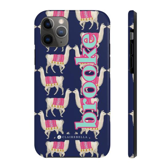 Llama iPhone Tough Case 11 - Give Wink