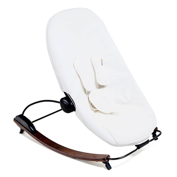 Coco go 3-in-1 Lounger with seat pad in organic cotton - Bloom - Capuccino / Coconut White