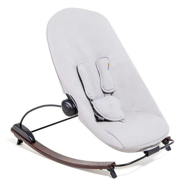 Coco go 3-in-1 Lounger with seat pad in organic cotton - Bloom - Capuccino / Frost Grey