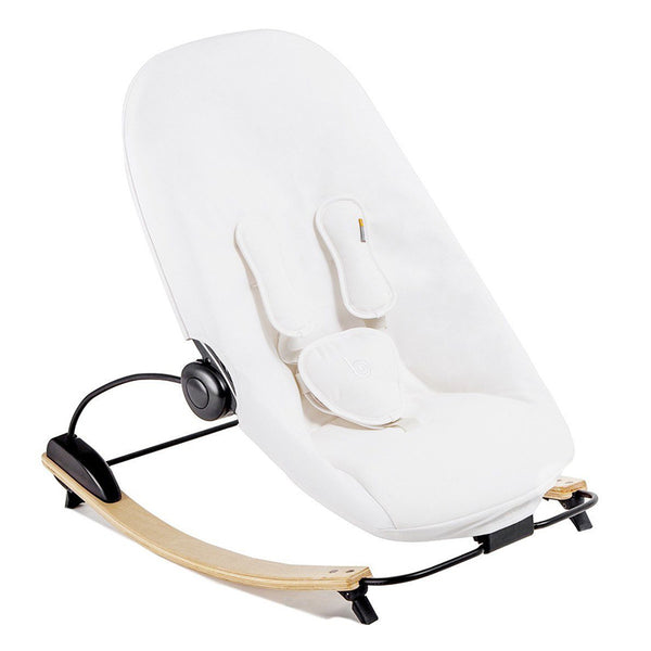 Coco go 3-in-1 Lounger with seat pad in organic cotton - Bloom - Natural / Coconut White