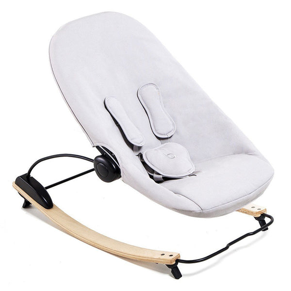 Coco go 3-in-1 Lounger with seat pad in organic cotton - Bloom - Natural / Frost Grey