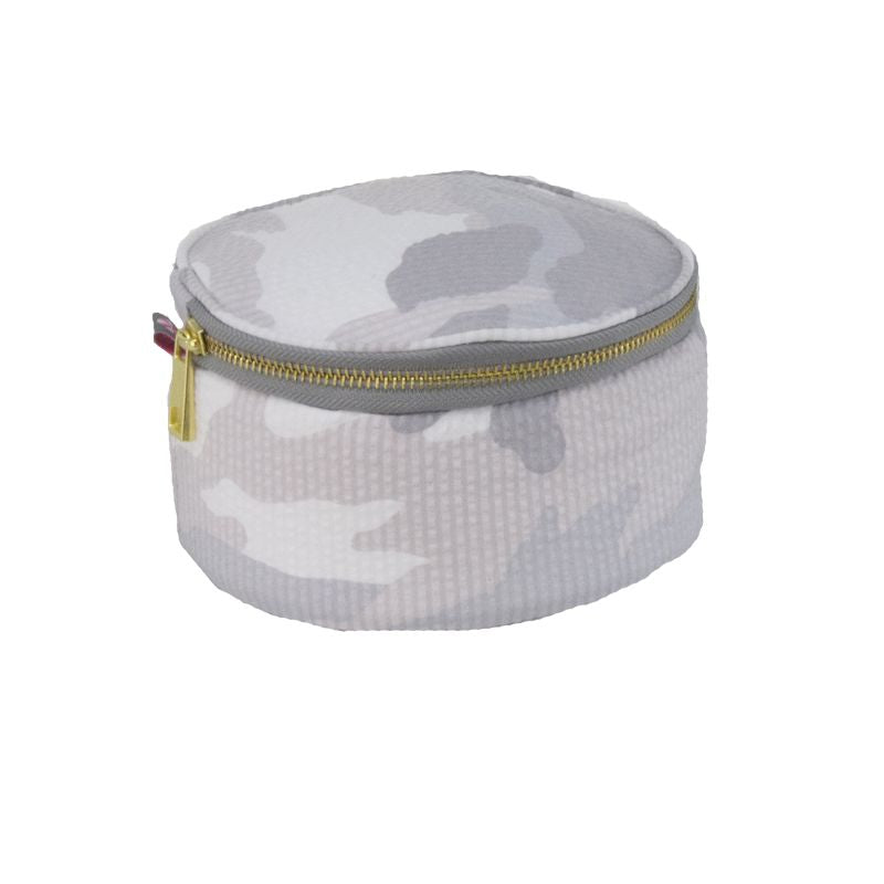 White Camo Round Multi Purpose Pouch - Give Wink