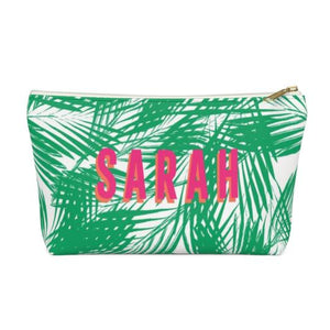 Clairebella. Palm Leaves Zippered Pouch - Large. Miami Baby Store. Green