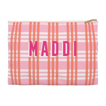 Grayson Plaid Flat Zippered Clutch - Large - Give Wink