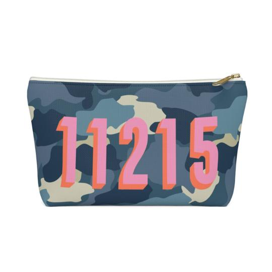 Camo Zippered Pouch - Large - Give Wink