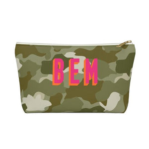 Clairebella Camo Zippered Pouch - Small. Miami Baby Store. Green
