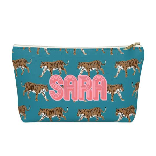 Tiger Zippered Pouch - Large - Give Wink