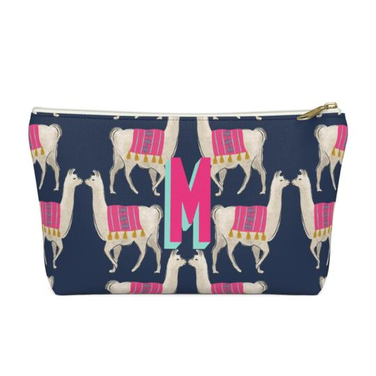 Llama Zippered Pouch - Small - Give Wink