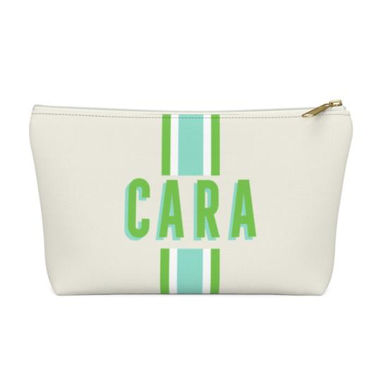 Clairebella Stripes Zippered Pouch - Small. Miami Baby Store. Limeaide