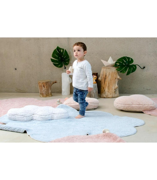 Lorena Canals Puffy Dream Blue Rug. Baby Decor Miami Baby Store  - pc3