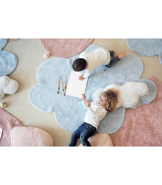 Lorena Canals Puffy Dream Blue Rug. Baby Decor Miami Baby Store  - pc4