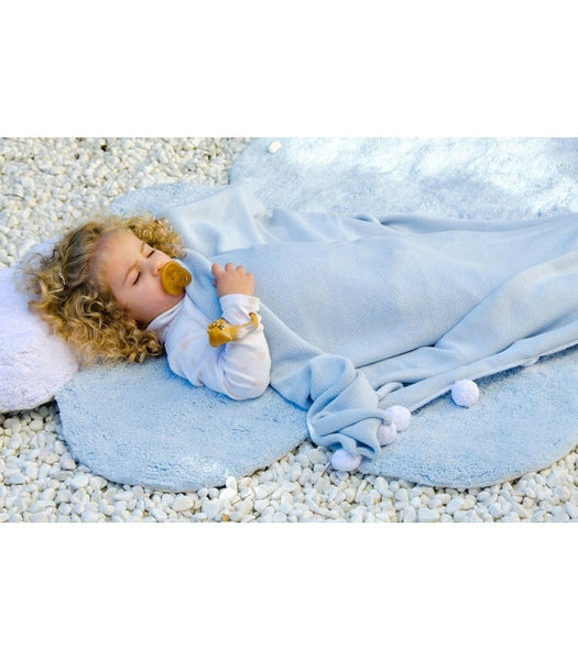Lorena Canals Puffy Dream Blue Rug. Baby Decor Miami Baby Store  - pc2