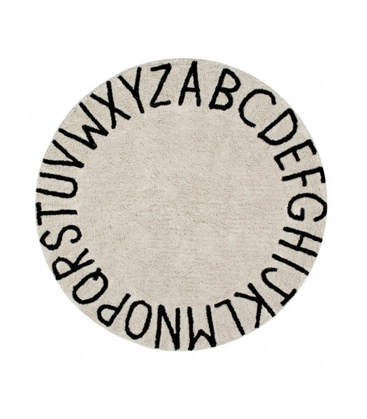 Round ABC Rug. Lorena Canals. Miami Baby Store. Natural