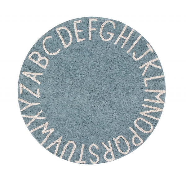 Round ABC Rug. Lorena Canals. Miami Baby Store. Blue