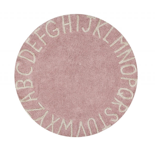 Round ABC Rug. Lorena Canals. Miami Baby Store. Pink