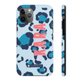 Clairebella Spots iPhone Tough Case 11 Pro Max. Miami Baby Store. Blue