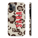 Clairebella Spots iPhone Tough Case 11 Pro Max. Miami Baby Store. Tan