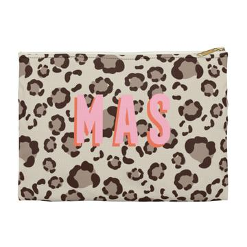 Leopard Spots Flat Zippered Clutch - Large - Give Wink