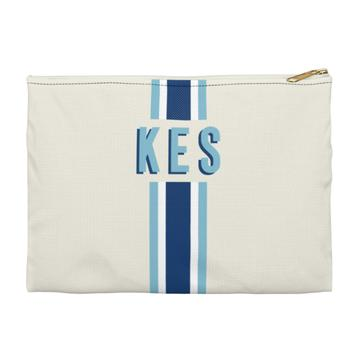 Stripe Flat Zippered Clutch - Large - Give Wink
