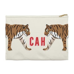 Tiger Duo Flat Zippered Clutch. Small. Miami Baby Store. Tiger Duo