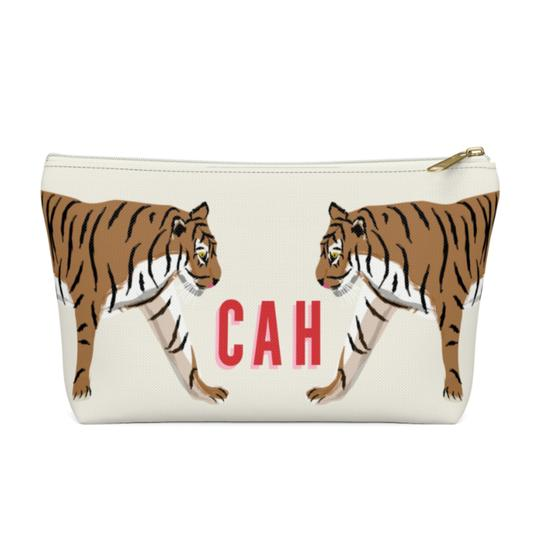 Clairebella Tiger Duo Zippered Pouch - Small. Miami Baby Store