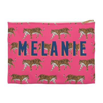 Tiger Flat Zippered Clutch - Large - Give Wink