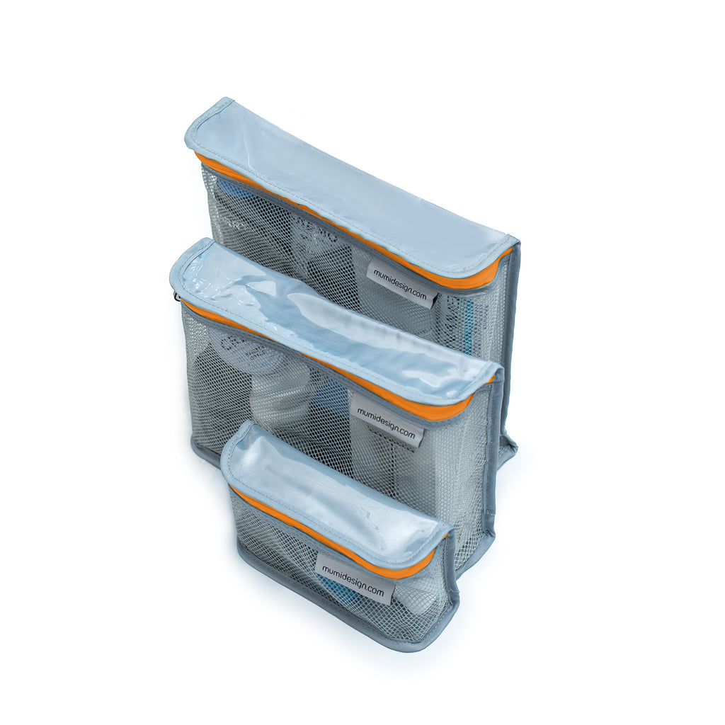 Toiletry Cubes S/3 - Orange - Give Wink