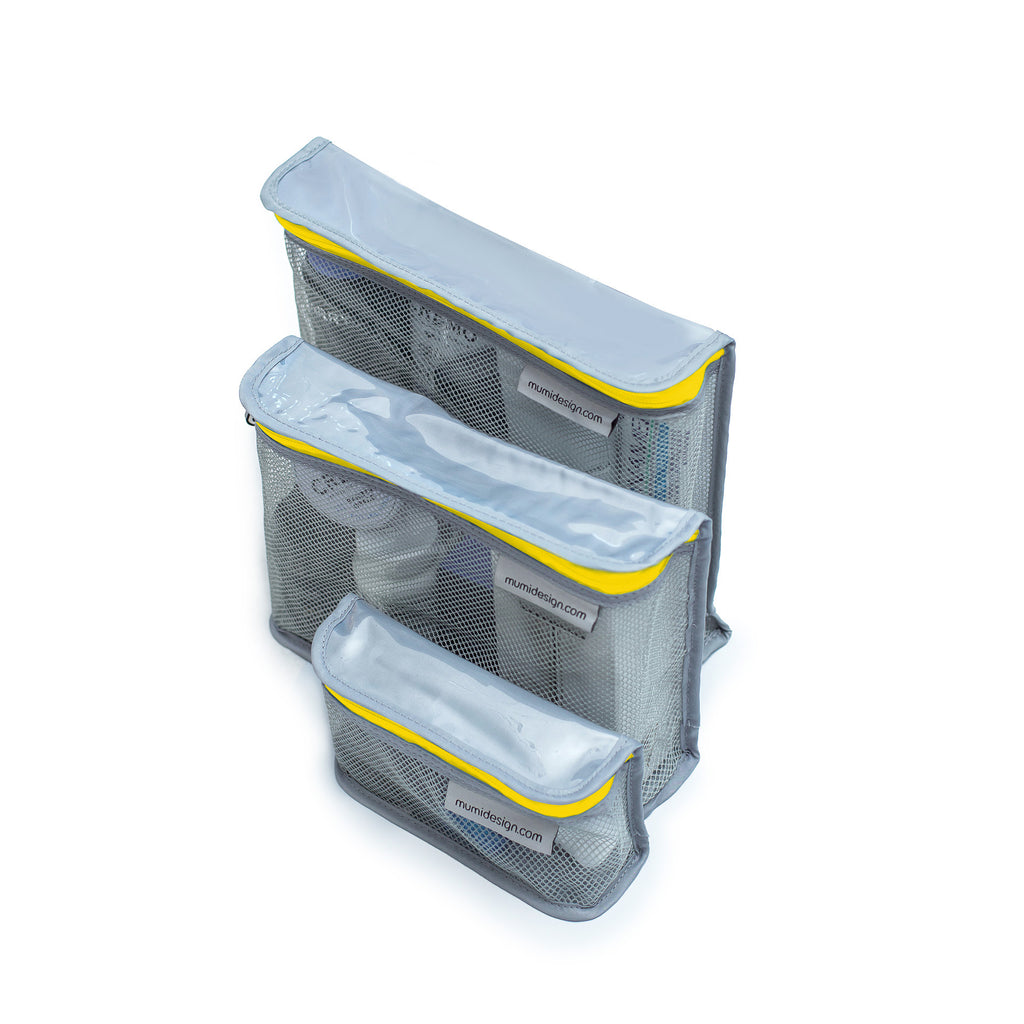 Toiletry Cubes S/3 - Yellow - Give Wink