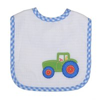 Tractor Applique Bib - Give Wink