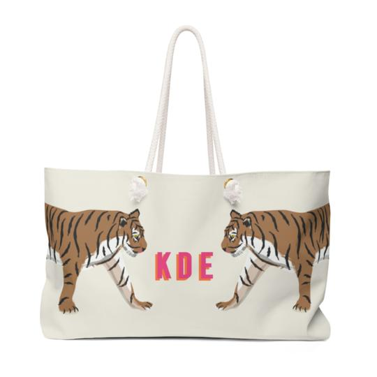 Tiger Travel Tote - Give Wink