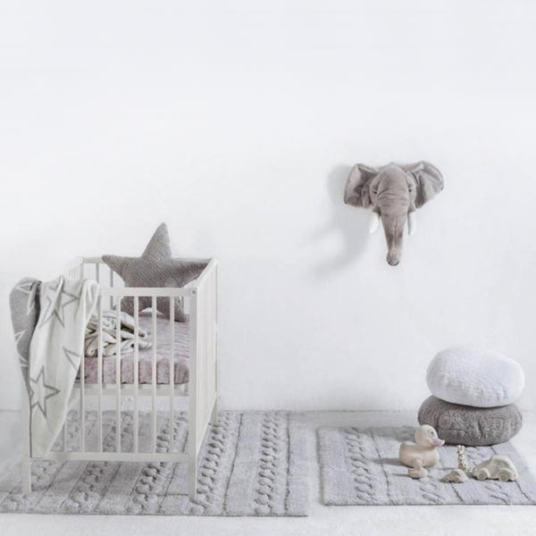 Braids Washable Rug Pearl Grey - Lorena Canals - Miami Baby Store - pc2