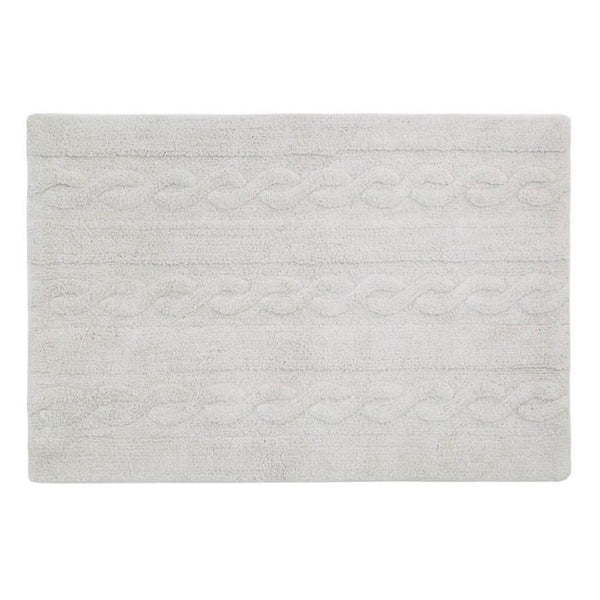 Braids Washable Rug Pearl Grey - Lorena Canals - Miami Baby Store - pc1