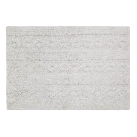 Braids Washable Rug Pearl Grey