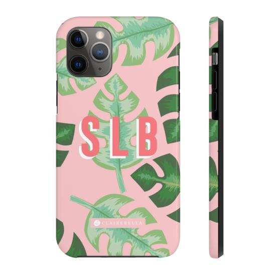 Clairebella Tropical iPhone Tough Case 11 Pro. Miami Baby Store. Pink