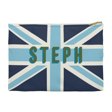 Union Jack Flat Zippered Clutch - Small - Give Wink
