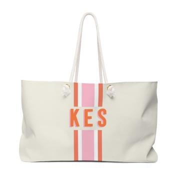 Light Stripe Travel Tote - Give Wink