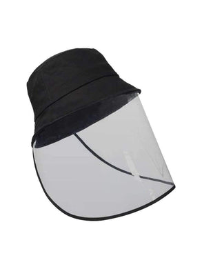 Color=Black | Transparent Full Face Outdoor Protection Hat-Black 1