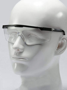 Color=transparent | Multi-Function Anti-Fog Temple Legs Adjustable Safety Glasses-Transparent 1