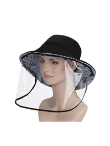 Color=Black& White | Anti-Spitting Anti-Virus Protective Removable Full Hat-Black& White 1