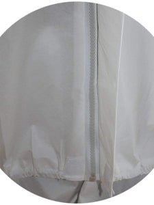 Color=White | Anti-Saliva Cheap Disposable Protective Coveralls With Attached Hood-White 3