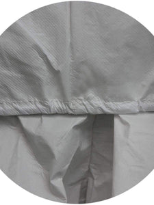 Color=White | Anti-Saliva Cheap Disposable Protective Coveralls With Attached Hood-White 4