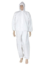 Load image into Gallery viewer, Color=White | Anti-Saliva Cheap Disposable Protective Coveralls With Attached Hood-White 1